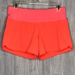 "Lululemon Speed Short (2 1/2"") Electric Coral Sz 4"